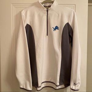 Nike DriFit Detroit Lions 1/4 Zip Jacket Womens XL